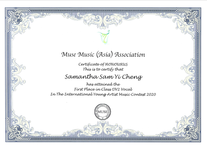 2020.11.14 Muse Music Asia Association Class DV2 Vocal First Place